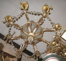 Antique Gilt Bronze Neoclassical Athenienne Chandelier