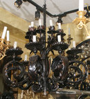 Antique French Wrought Iron 16-Light Chandelier