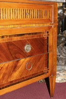 Antique Louis XVI Italian Fruitwood Parquetry Commode
