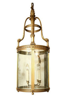 Antique E.F. Caldwell Bronze Lantern 45 in (114 cm)