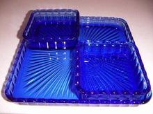 COBALT BLUE 3PC RELISH SET