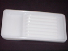 MILK GLASS DENTAL TOOLS TRAY