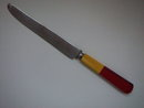 TABLE KNIFE W/TWO-TONE BAKELITE & LUCITE HANDLE