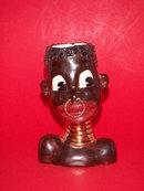 COMIC BLACK AFRICAN NATIVE HEAD VASE