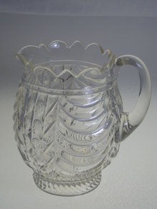 PATTERN GLASS PITCHER