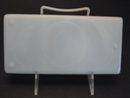 DIVIDED MILK GLASS DENTAL TRAY-3 PART