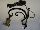 VINTAGE WROUGHT IRON ELECTRIC WALL/PORCH SCONCE