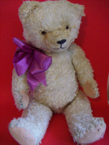 RARE! LARGE WHITE GERMAN TEDDY BEAR