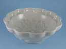 WHITE GERMAN IRONSTONE PUDDING MOLD