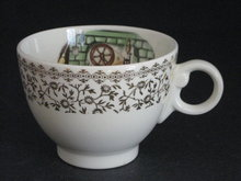 TST EARLY AMERICAN  HOME SCENE W/GOLD FILIGREE CUP