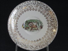 TST EARLY AMERICAN HOME DESIGN W/GOLD FILIGREE  SAUCER