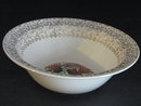TST COLONIAL HOME SCENE W/GOLD FILIGREE SERVING BOWL