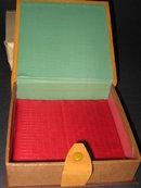 HAND-PAINTED SOUVENIR HANKY BOX W/ORIGINAL GIFT BOX