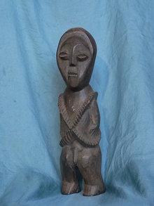 Statue of  man in Zaire