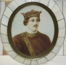 Miniature painting of a man with a crown