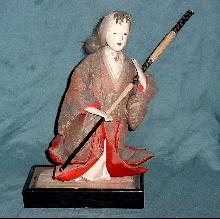 Antique japanese Hina doll witht gofun head