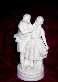 Biscuit  Porcelain Romantic Couple