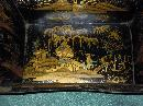 Small metal tray with chinoiserie