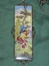 Ennameled pendant with Hermes