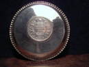 Plate with one rupee
