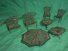 Antique  Dutch Silver Miniature Furniture