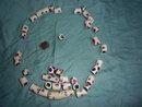 37 antique bear paw Venetian glass trade beads