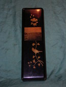 Lacquerware box with photographic image in the cover