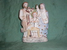 Porcelain bisque Holy Family