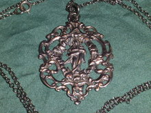 Silver Pendant with Maria