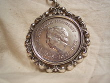 Large Silver Pendant with Silver 10 Guilden