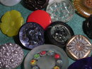 98  different vintage glass buttons