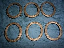 6 vintage metal frames