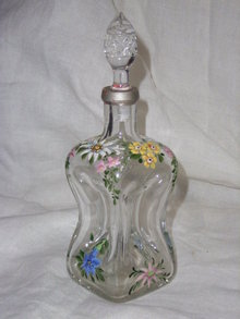 Small antique decanter .