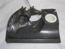 Pewter  Inkwell with Horses