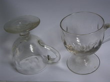 6  19th century custard cups