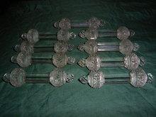 Nine very nice antique glass  knife rests