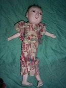 Antique Ichimatsu  Gofun Boy Doll