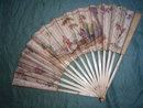 Hand painted paper fan from around 1790