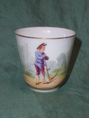 Antique  hand painted cup without saucer
