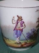 Antique  hand painted Cup with Saucer