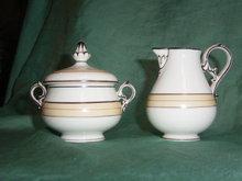 19th century cream jug and sugar bowl