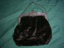 Antique bag purse with silver clasp with image of the  Night Watch