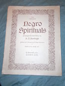 Music book with Negro Spirituals