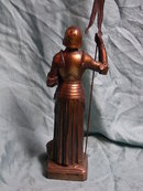 Jeanne d'Arc, metal figurine