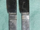 2 Christofle small Butter Knifes