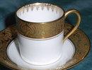 Vintage Limoges mocca or mocha cup and saucer
