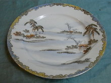 Hand painted japanese luncheon plate