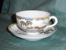 Hand painted japanese tea cup & saucer