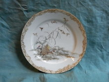 Hand painted japanese plate