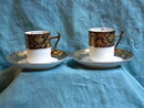 2 hand painted mocha cups